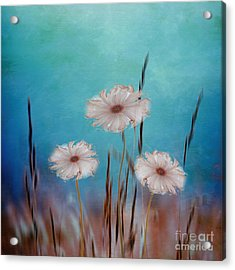 Acrylic Print featuring the digital art Flowers For Eternity 2 by Klara Acel