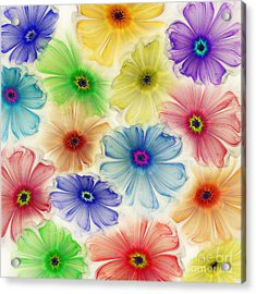 Acrylic Print featuring the digital art Flowers For Eternity by Klara Acel
