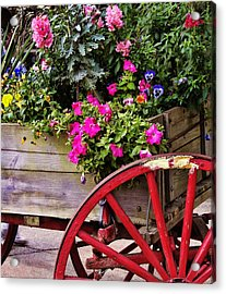 Flowers For Sale Acrylic Print by JAMART Photography