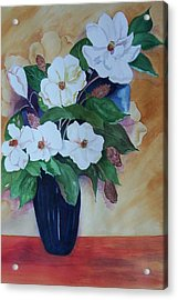 Flowers For The Table Acrylic Print by Audrey Bunchkowski