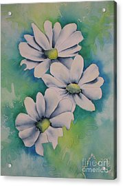 Acrylic Print featuring the painting Flowers For You by Chrisann Ellis
