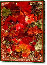 Acrylic Print featuring the mixed media Flowers For You by Ray Tapajna