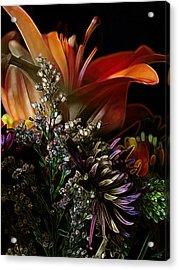 Acrylic Print featuring the digital art Flowers 2 by Stuart Turnbull