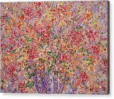 Flowers In Purple Vase. Acrylic Print