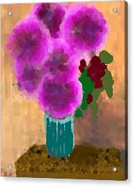 Flowers In Room Acrylic Print by Dr Loifer Vladimir