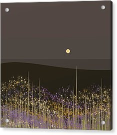 Flowers In The Moonlight Acrylic Print