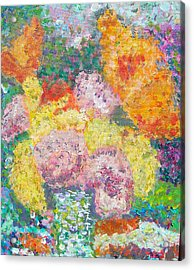 Flowers In The Rain Acrylic Print