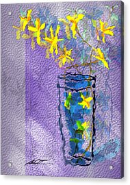 Flowers In Vase Acrylic Print