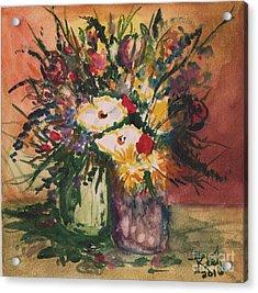 Flowers In Vases Acrylic Print