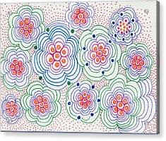 Flowers Acrylic Print by Leslie Genser