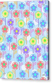 Flowers Acrylic Print by Louisa Knight