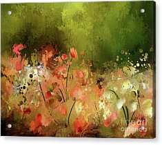 Acrylic Print featuring the photograph Flowers Of Corfu by Lois Bryan