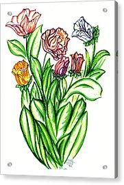 Flowers Of Fantasy Acrylic Print by Judith Herbert