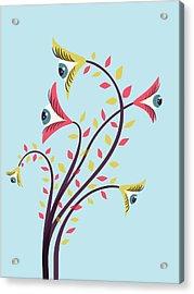 Flowers Of Watching Eyes Acrylic Print