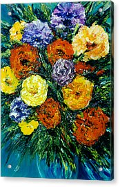 Flowers Painting #191 Acrylic Print by Donald k Hall