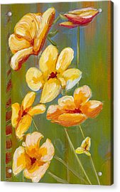 Flowers Acrylic Print by Patricia Cleasby