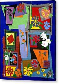 Flowers Study 1 Acrylic Print by Teddy Campagna