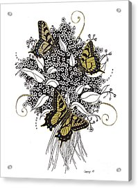 Flowers That Flutter Acrylic Print by Stanza Widen