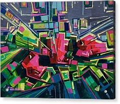 Flowers To Mondrian  Acrylic Print