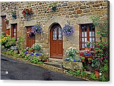 Flowery Doorways In Brittany Acrylic Print