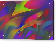 Flowing Energies Acrylic Print by Peter Shor