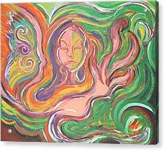 Flowing Acrylic Print by Jessica Kauffman