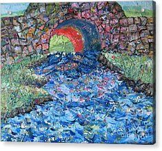 Flowing On Acrylic Print by Judith Espinoza