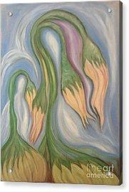 Flowing Onions Acrylic Print by Michelle  Thomann-Ramirez