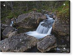 Flowing Through Boulders Acrylic Print by Tim Grams