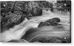 Flowing Waters At Kern River, California Acrylic Print by John A Rodriguez