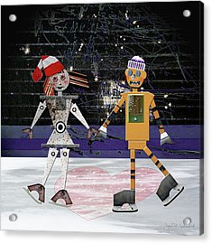 Floyd And Zoe's Skate Date Acrylic Print by Joan Ladendorf