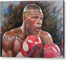 Floyd Mayweather Jr Acrylic Print