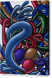 Fluid 1 - Abstract Art Painting - Chromatic Fluid Art Acrylic Print