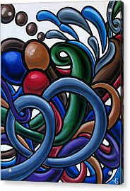 Colorful Abstract Art Painting Chromatic Water Artwork Acrylic Print