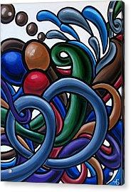 Fluid 2 - Original Abstract Art Painting - Chromatic Fluid Art Acrylic Print