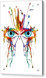 Fluid Abstract Eyes Acrylic Print by Robert G Kernodle