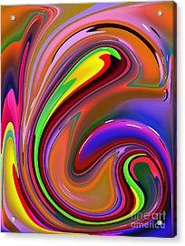 Fluid Colour Acrylic Print by Robert Burns