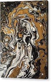 Fluid Gold Acrylic Print