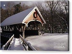 Flume Covered Bridge - Lincoln New Hampshire Usa Acrylic Print by Erin Paul Donovan