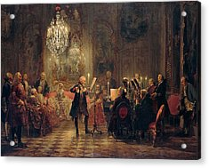 Flute Concert With Frederick The Great In Sanssouci Acrylic Print