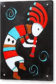 Flute Player Acrylic Print by M Diane Bonaparte