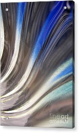 Fluted Blue Acrylic Print by Elizabeth McPhee