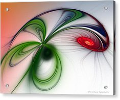 Flutter Acrylic Print by Sandra Bauser Digital Art