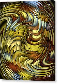 Flutter Acrylic Print by Terry Mulligan