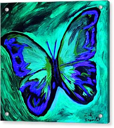 Flutterby Brings The Light Through Dark Acrylic Print