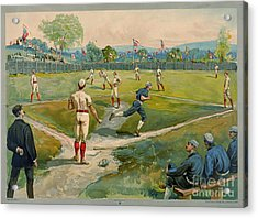 Fly Ball 1887 Acrylic Print by Padre Art