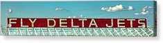 Fly Delta Jets Signage Hartsfield Jackson International Airport Art Atlanta, Georgia Art Acrylic Print