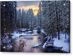 Acrylic Print featuring the photograph Fly Fisherman On The Metolius by Cat Connor