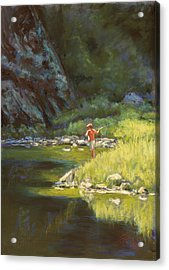 Fly Fishing Acrylic Print by Billie Colson
