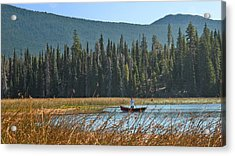 Fly Fishing Hosmer Lake Larry Darnell Acrylic Print